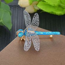 Женские броши l'amour & ma синие в форме стрекозы Роскошные