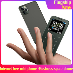 Ultra Thin Mini Cell Card Phones Telephone GSM CDMA SIM Card For Student Unlocked Mini Pocket Cordless Phones Portable HIFI
