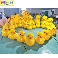 outdoor giant inflatable water yellow duck floating animal model ballon for advertising event party air pump factory directly