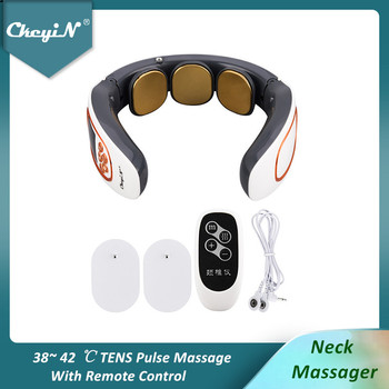 Electric Pulse Neck Massager TENS Cervical Massager Pain Relief Relaxation Therapy Shoulder Deep Tissue Massage Remote Control48