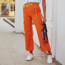 Spring Casual Pants High waist straight casual wom