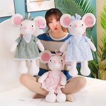 Cute Small Mouse Doll Plush Toy Stuffed Animal Wear Dress Mouse Toy Plush Doll Children Toys Girls Ragdoll Gift ragdoll