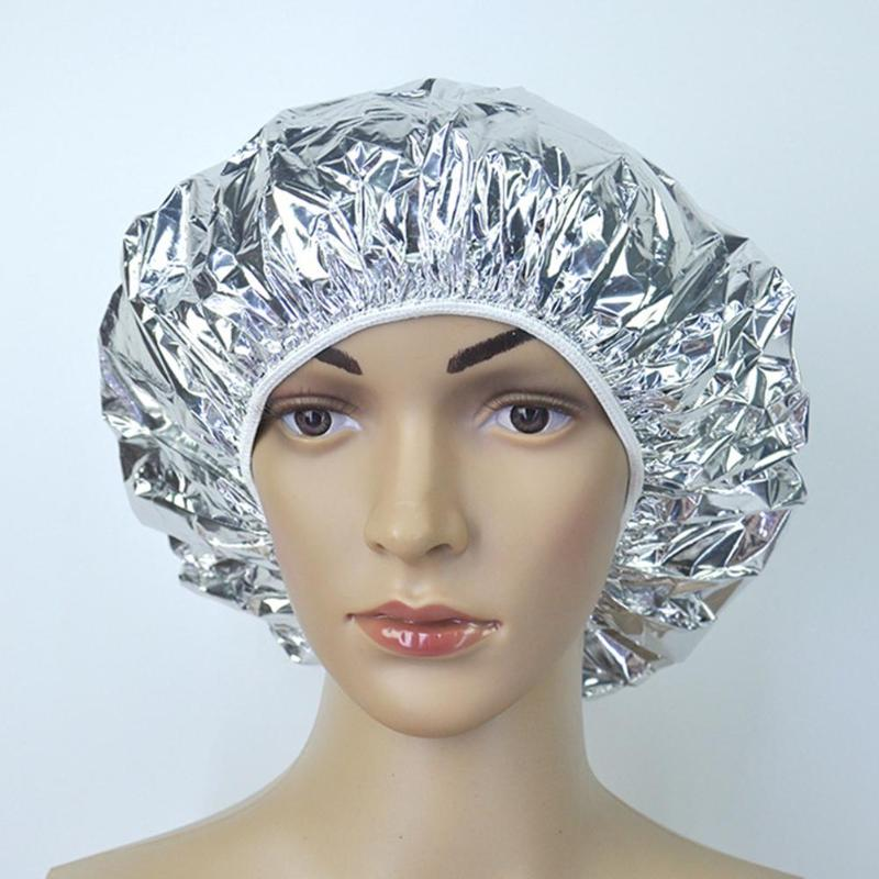 Aluminum Foil Waterproof Disposable Bath Spa Hair Salon Cap Baking Oil Hair Care Dust Dirt And Heat Insulation Comfort