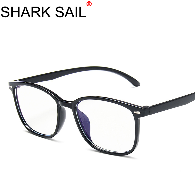 SHARK SAIL Anti Blue Rays Computer Round Glasses Men Blue Light Coating Gaming Glasses Computer Protection Eye Spectacles Women