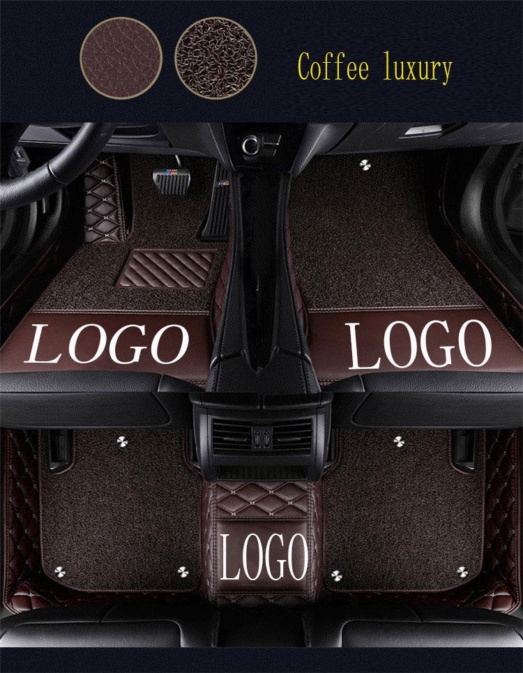 Tapis de sol de voiture avec Logo/Logo de marque pour Buick Enclave Encore Envision LaCrosse Regal GT XT 5D revêtement de sol de tapis de voiture