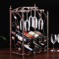 Creative retro wine rack goblet holder Multifunctional Kitchen Bar wine glass Display Storage Shelf Home decoration