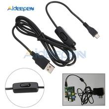 1,5 м Micro USB выключатель питания зарядное устройство кабель провода с включения/выключения для Raspberry Pi 3
