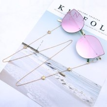 Street Shot Personality Fashion Glasses Chain Sunglasses Accessories  Womens Star Hanging Clavicle