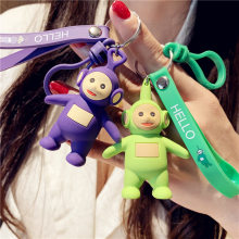 2020 New high quality cute baby key chains cartoon key chain toy creative pendant key rings ring small fresh gift for women(China)
