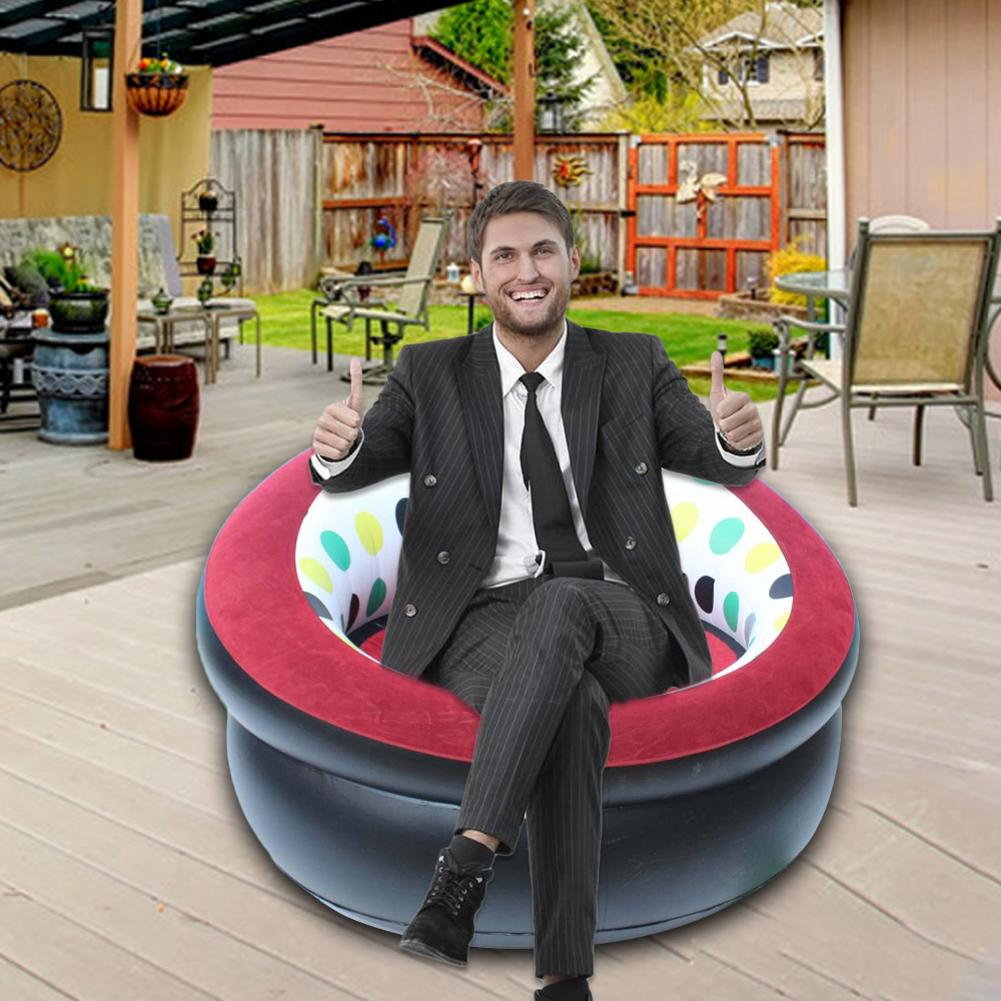Inflatable Sofa Thickened Inflatable Stool Folding Inflatable Chair For Home Courtyard