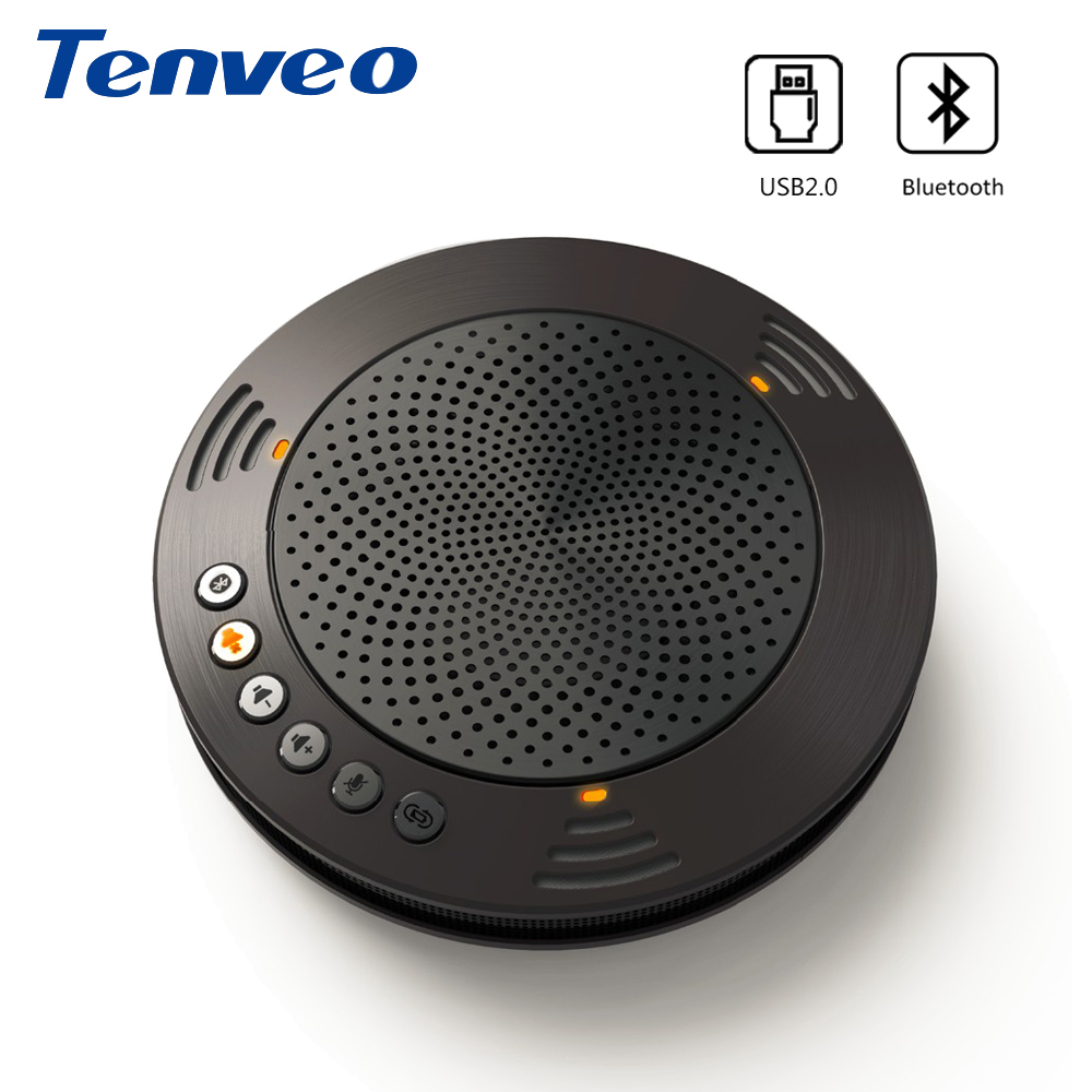Tenveo A100B Wireless Bluetooth Speakerphone Professional Unified Communicaton Speakerphone Fit for Android or iOS System