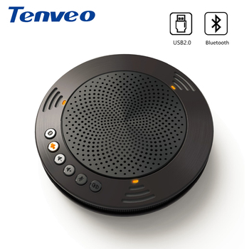 цена на Tenveo A100B Wireless Bluetooth Speakerphone Professional Unified Communicaton Speakerphone Fit for Android or iOS System