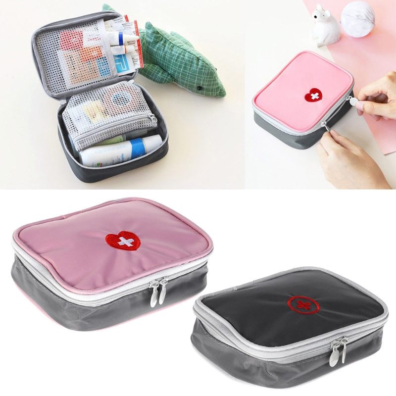 First Aid Emergency Portable Medicine Kit Outdoors Camping Hunt Pill Storage Bag