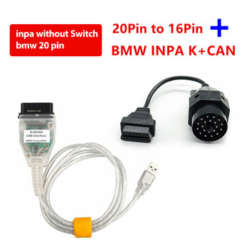 OBD2 For BMW INPA K+CAN With Switch OBD2 Coding Diagnostic Cable INPA K+DCAN Support FTDI FT232RL Chip Diagnostic Test Tools image