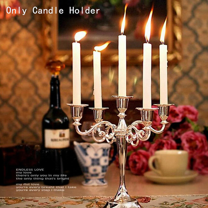 1pc antigo retro castiçais alto ouro prata natal candelabros casamento decorações de metal europeu castiçais