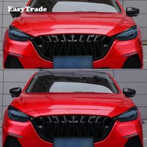 Image 4 - Kiểu Dáng Xe Đèn Pha Lông Mày Mi Mắt Viền Mắt Nắp Bao Da Miếng Dán Decal Dán Viền Dành Cho Xe Mazda 3 Axela Phụ Kiện Bên Ngoài