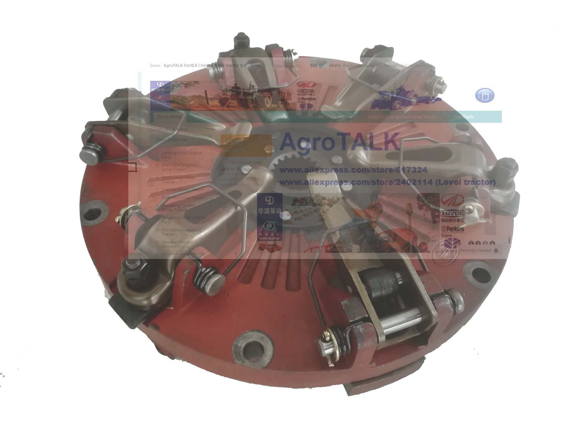 TB550.211A, The 10 Inch Clutch With PTO Disc  For Foton FT404 FT454 TB504 Tractor, Please Check The Diameter Of Your Clutch