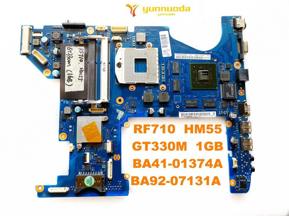 Original For Samsung RF710 Laptop Motherboard RF710  HM55  GT330M  1GB  BA41-01374A  BA92-07131A  Tested Good Free Shipping