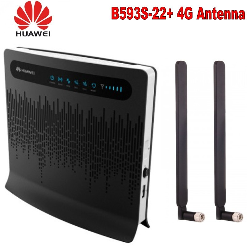 Débloqué Huawei B593 B593s-22 150Mbps 4G lte 3g CPE wifi routeur sans fil 4g lte mifi hotspot Mobile avec antenne pk E5186 B315