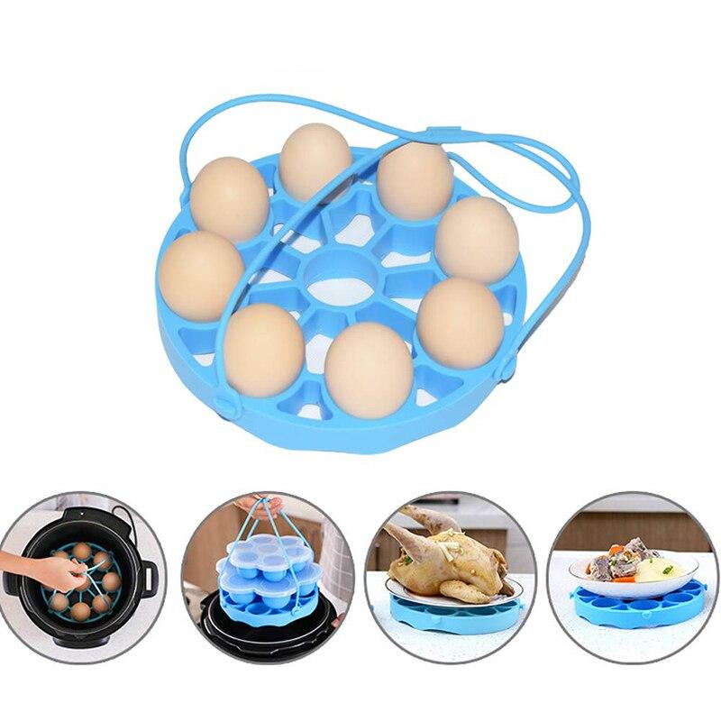 Silicone Egg Rack Steamer Rack Trivet With Handles Holds Egg Bites Mold Or 9 Eggs For Instant Pot Pressure Cooker Kitchen Gadget