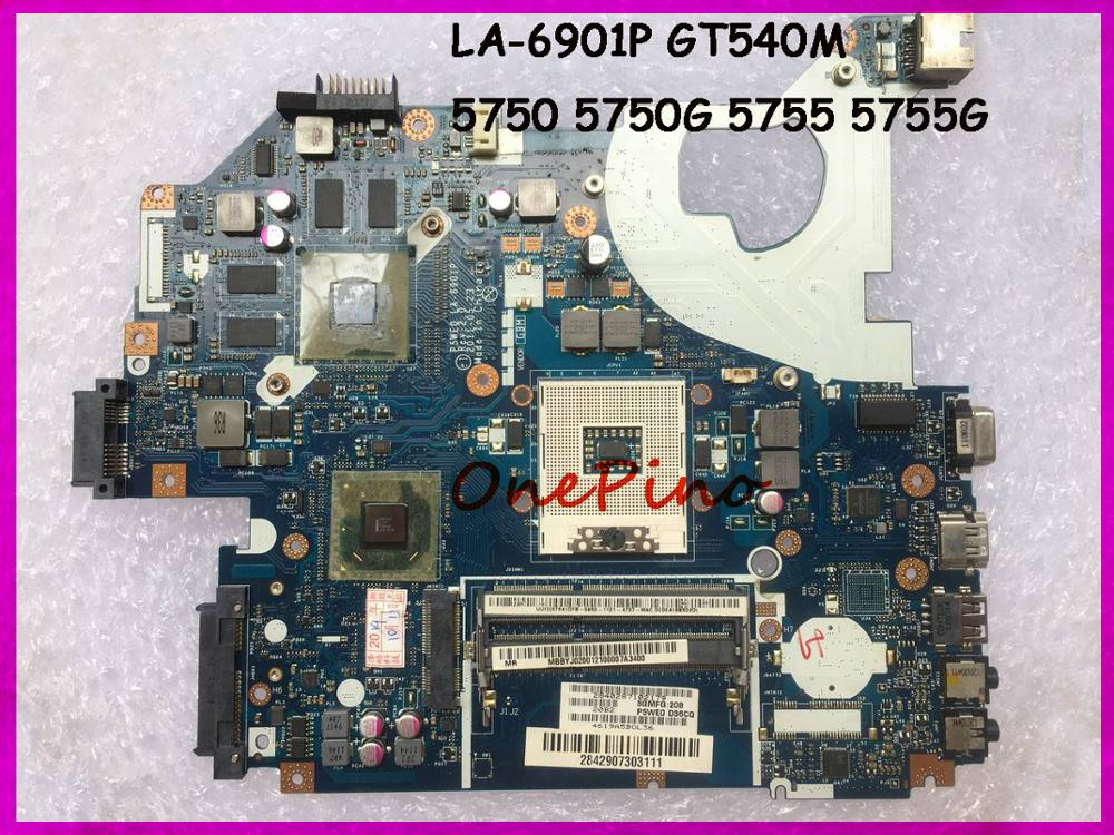Fit For Acer 5750 5750G 5755 5755G Laptop Motherboard LA-6901P GT540M HM65 Tested Working