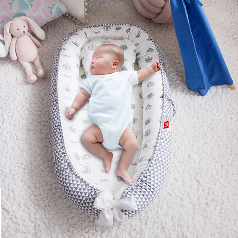 Baby Crib Removable And Washable Portable Baby Bed Travel Bed Infant Kids Cotton Cradle Foldable Newborn Bionic Bed