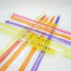 Image 4 - Nouveau 6 pièces amant fil épais pour fils à tricoter tricoté à la main lanas para tejer coton crochet laine aiguilles tissé à la main t49