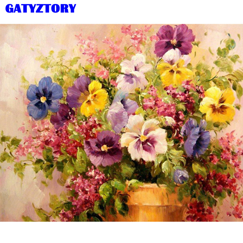 GATYZTORY Frame DIY Digital Painting By Numbers Kits Hand Painted Modern Wall Art Canvas Painting For Artwork