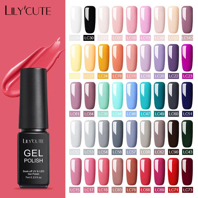 LILYCUTE 60 Colors Matte Gel Nail Polish