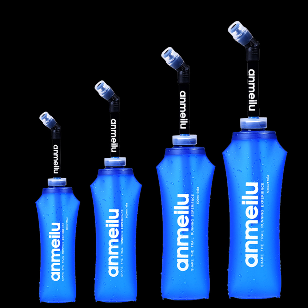 250ml 500ml Soft Flask Folding Collapsible Water Bottle TPU Free For Running Hydration Pack Waist Bag Vest  SD09 SD10