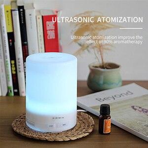 Image 4 - PIVOKA 820ml ארומתרפיה מפזר אוויר אדים חשמלי מפזר חיוני שמן Huile Essentiel עם LED לילה מנורת עבור בית
