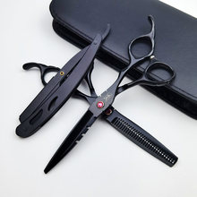 440C Japan Professional Hairdressing Scissors Cutting Thinning Shears Hair Scissors Kit Right Hand Barber Scissors
