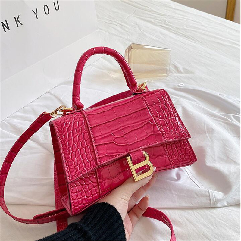 New Small Leather Women's Bags Designer Vintage Alligator Pattern PU Mini Handbags Causal Shoulder Bag Female Crossbody Bag-tote