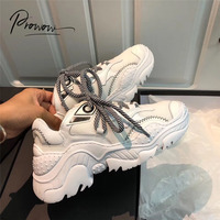 Prowow Fashion Style Spring Autumn Genuine Leather Women Flat Shoes Lace Up Shallow Mouth Women Sneaker Flats Shoes Woman