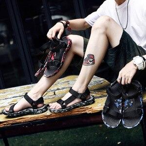 Image 2 - SHOFORT Scarpe Da Uomo Traspirante Selvaggio Degli Uomini Sandali Sandali Freddi Scarpe Da Spiaggia degli uomini di Estate Più Il Formato di Moda Allaperto Casual Zapatos De hombre