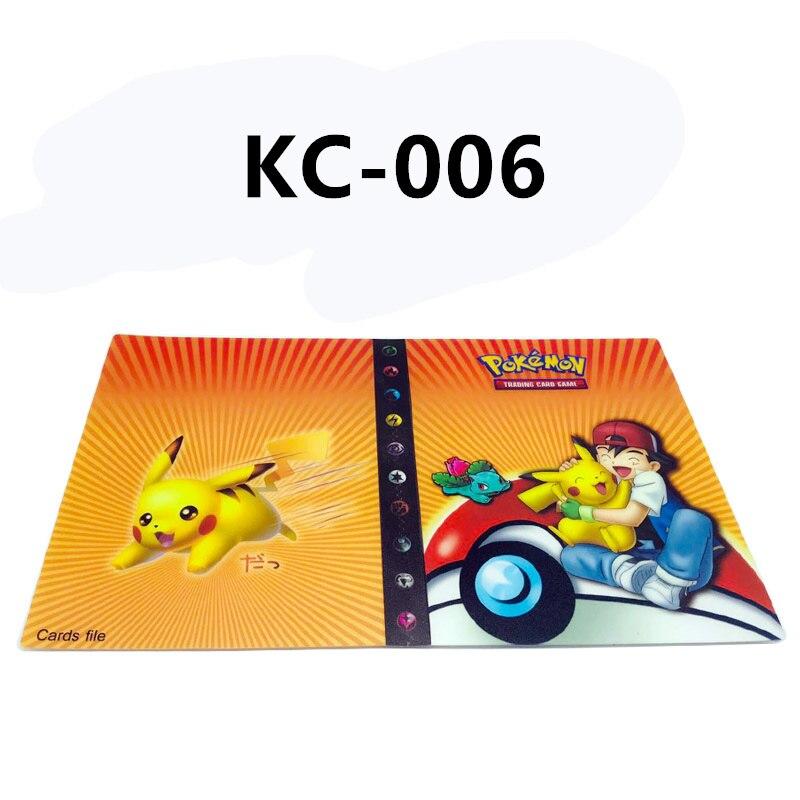 24 стиля Pokemon Cards альбом книга мультфильм аниме Карманный Монстр Пикачу 240 шт держатель альбомная игрушка для детей подарок - Цвет: KC-006