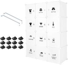 Plastic Wardrobe Cabinet Cube Clothing Storage Organizer Stackable Closet Cabinet Bedroom Living Room Furniture