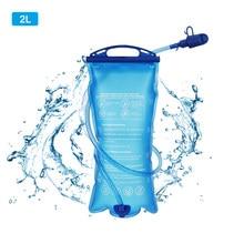 Saco de água tpu portátil 2l sistema hidratação bexiga mochila acampamento caminhadas escalada ciclismo dobrável sacos bebendo