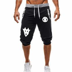 Летние мужские шорты для отдыха, мужские высотой до колена, Цветные Лоскутные джоггеры, короткие спортивные штаны, мужские шорты-бермуды