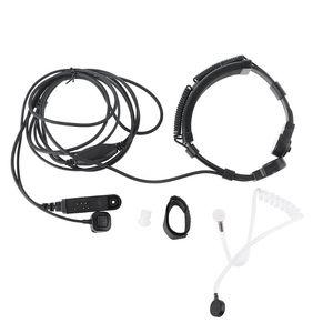 Image 1 - Telescopic Throat Vibration Mic Earpiece Headset for Baofeng UV 9R Plus Radio