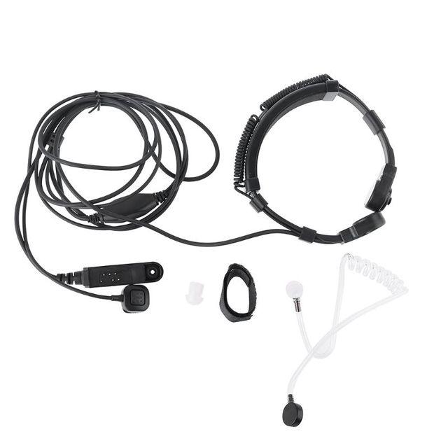 Telescopic Throat Vibration Mic Earpiece Headset for Baofeng UV 9R Plus Radio