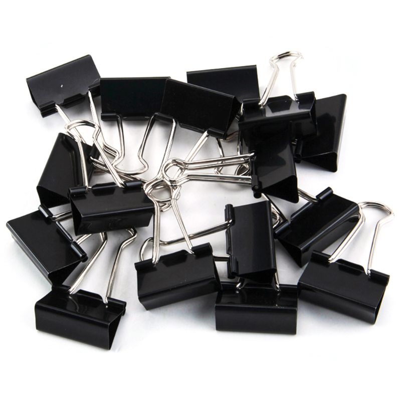 Binder Clips Paper Clamps Assorted Sizes 100 Count (Black), X Large, Large D08B