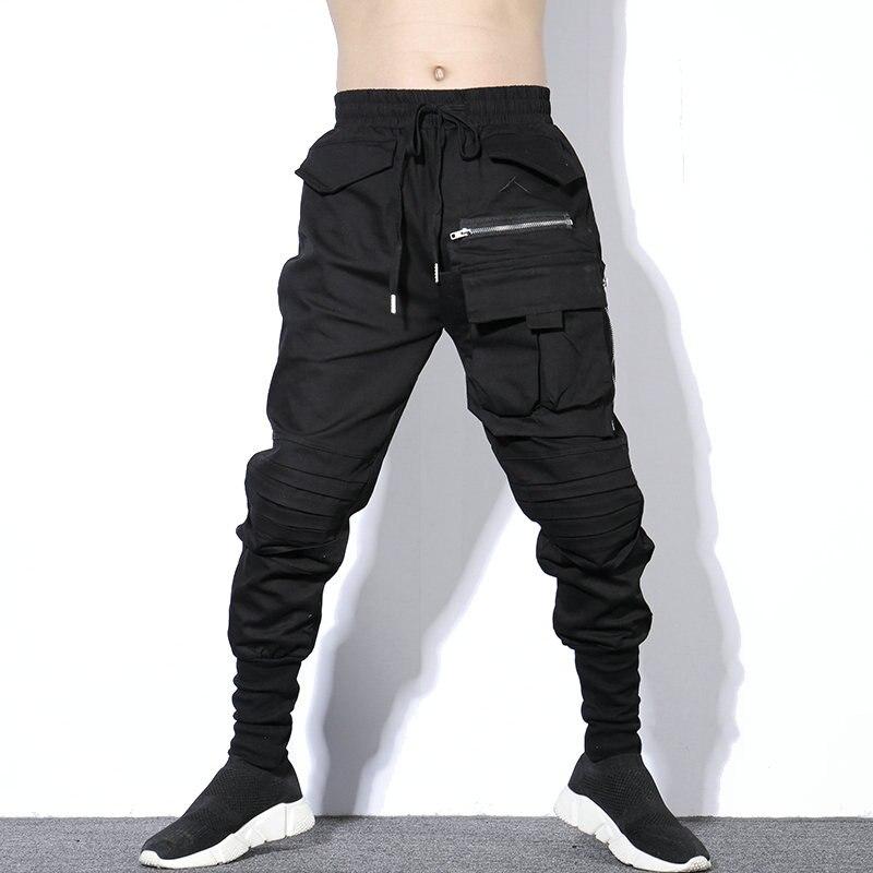 Darkly Style Multi-pockets Pants Men Fashion Hip Hop Harem Pants Casual  Joggers Sweatpant Vintage Streetwear Men Trousers