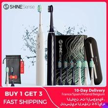 Shinesense STB800 Sonic Elektrische Tandenborstel Ultra Sonic Tanden Whitening Automatische Volwassen Borstel Oplaadbare Met Reizen Doos Heads