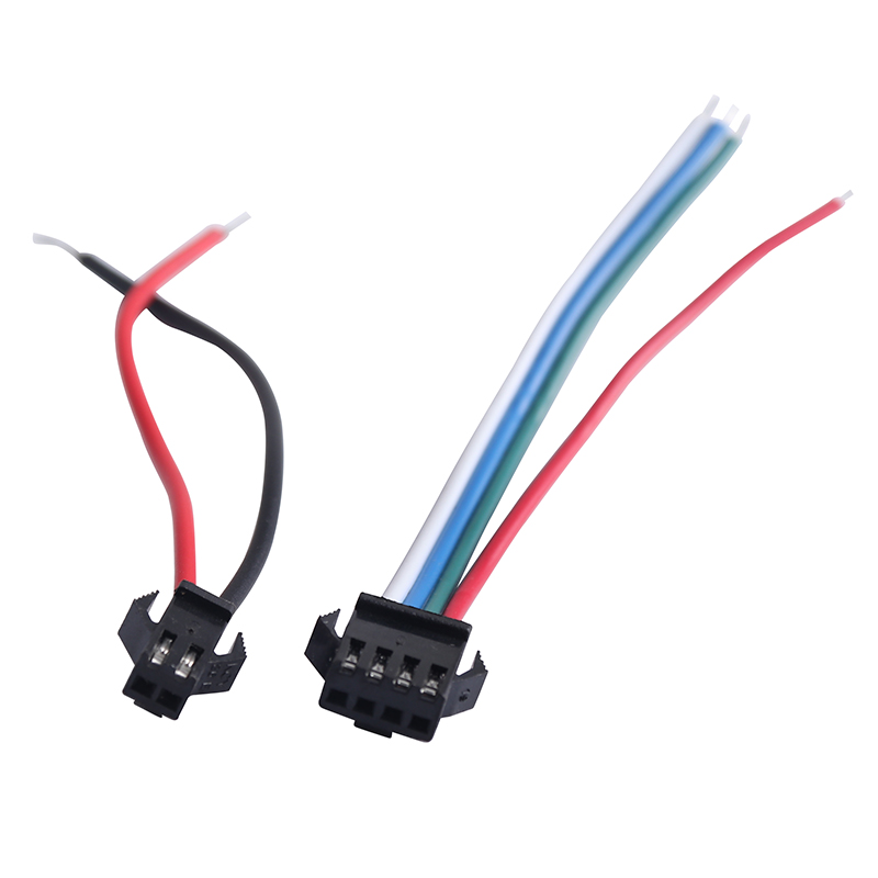 JST SM 2Pins 3 4 <font><b>5</b></font> <font><b>Pins</b></font> male and female wire <font><b>connector</b></font> terminal for 5V 12V <font><b>Led</b></font> <font><b>Strip</b></font> Light <font><b>connector</b></font> SMD5050 SMD5630 SMD2835 image