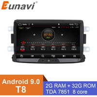 Eunavi Car Dvd Android 9.0 For Renault Dacia Duster Sandero Lodgy Dokker With One Din Car Radio Gps Navigation 8B02 2G+32G