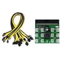 Kits de placa de fuga do módulo de potência com 12 pces 6pin para (6 + 2) 8pin cabo de alimentação para hp 1200w 750w psu gpu mineração ethereum eth