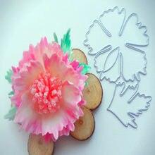 Bonito frango masculino flor e flor corte de metal dourado scrapbook papel de parede