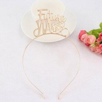 Alloy Future Miss Mom Tiara Crown Headband Wedding Engagement Hair Wear Hen Party Hair Accessories
