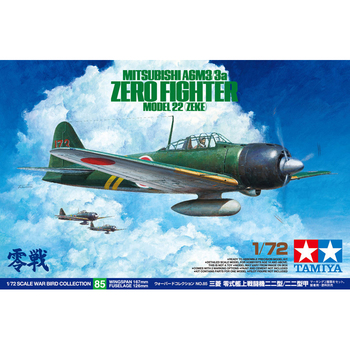 TAMIYA 60785 1/72 Mitsubishi A6M3/3a Zero Fighter 22 Zeke Plane Display Collectible Toy Plastic Assembly Building Model Kit daban 1 100 mg wing zero ew endless waltz xxxg 00w0 assembly model kit mobile suit not included display stand